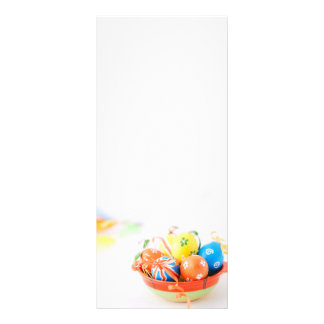 Colorful Easter's eggs Rack Card