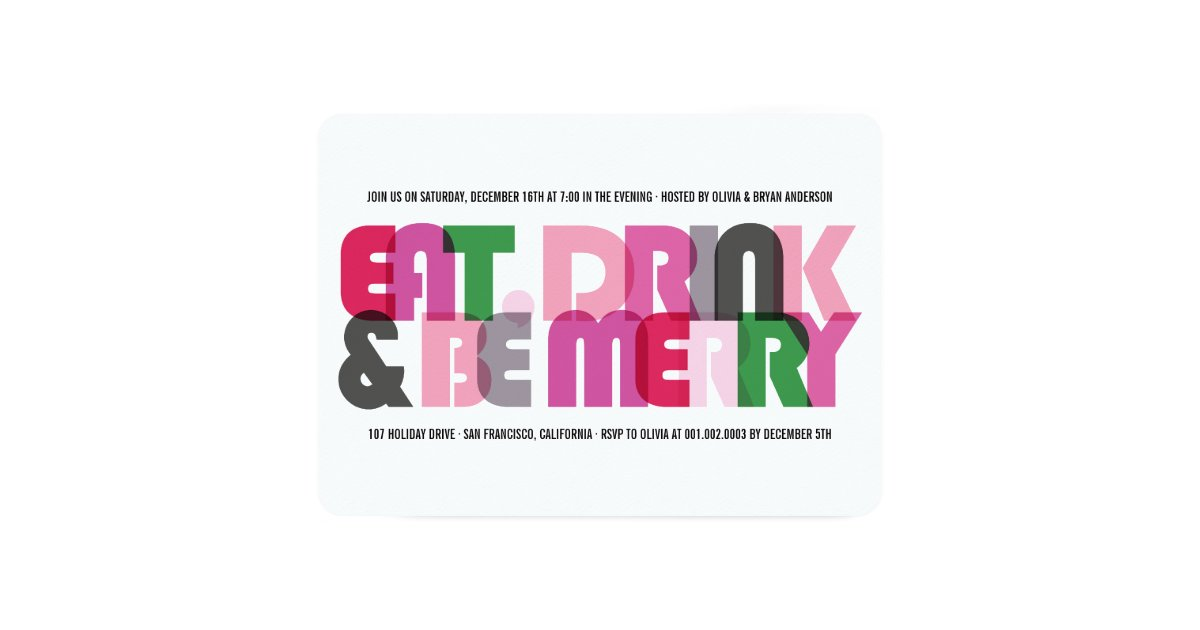 How Much Can You Eat Drink And Be Merry