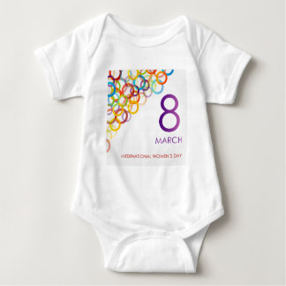 Colorful Ecard for womens day Baby Bodysuit