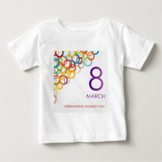 Colorful Ecard for womens day Baby T-Shirt