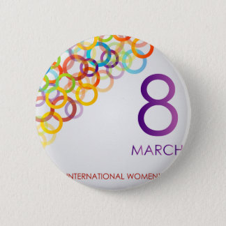 Colorful Ecard for womens day Button