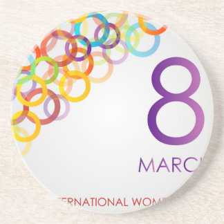Colorful Ecard for womens day Drink Coaster