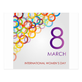 Colorful Ecard for womens day Postcard