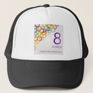 Colorful Ecard for womens day Trucker Hat