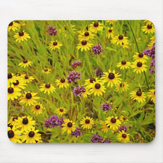 Colorful echinacea flower garden print mouse pad