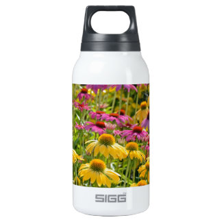 Colorful echinacea flowers in bloom insulated water bottle