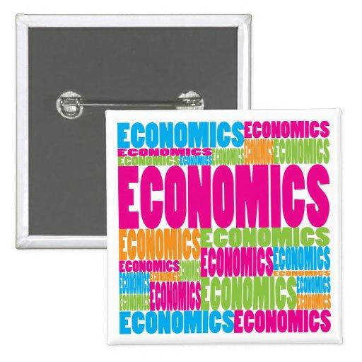 Colorful Economics 2 Inch Square Button