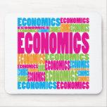 Colorful Economics Mouse Mat