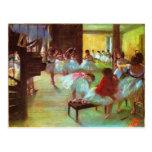 Colorful Edgar Degas Ballerina Fine Art Postcard