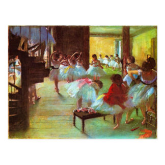 Colorful Edgar Degas Ballerina Fine Art Postcard