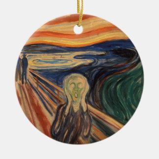 Colorful Edvard Munch The Scream Painting Ceramic Ornament