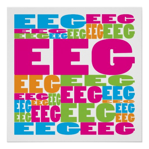 Colorful EEG Poster