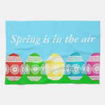 Colorful Egg Border Kitchen Towel