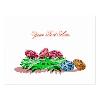 Colorful Egg Design Postcard