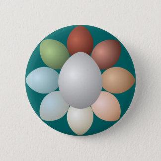 Colorful Eggs Assortment Pinback Button