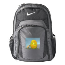 Colorful eggs for easter - 3D render Backpack