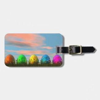 Colorful eggs for easter - 3D render Bag Tag