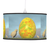 Colorful eggs for easter - 3D render Ceiling Lamp