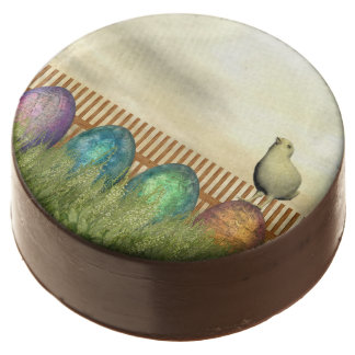Colorful eggs for easter - 3D render Chocolate Covered Oreo