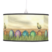 Colorful eggs for easter - 3D render Hanging Lamp
