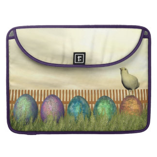 Colorful eggs for easter - 3D render MacBook Pro Sleeve