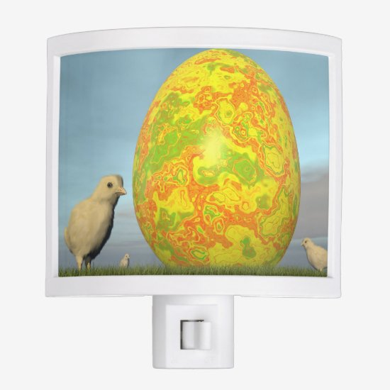 Colorful eggs for easter - 3D render Night Light