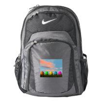 Colorful eggs for easter - 3D render Nike Backpack
