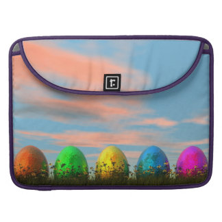 Colorful eggs for easter - 3D render Sleeve For MacBook Pro