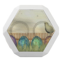 Colorful eggs for easter - 3D render White Bluetooth Speaker