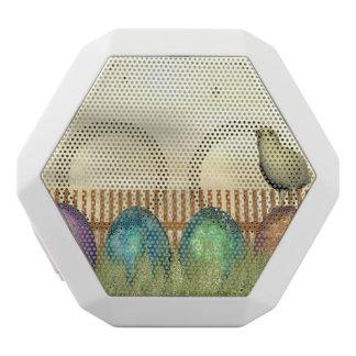 Colorful eggs for easter - 3D render White Bluetooth Speaker