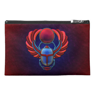 Colorful Egyptian Scarab Travel Accessories Bags