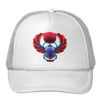Colorful Egyptian Scarab Trucker Hats