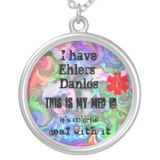 Colorful EHLERS-DANLOS MED ID Round Pendant Necklace