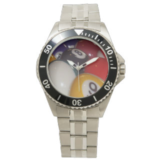 Colorful_Eight-balls_Men's_Stainless_Steel_Watch. Relojes