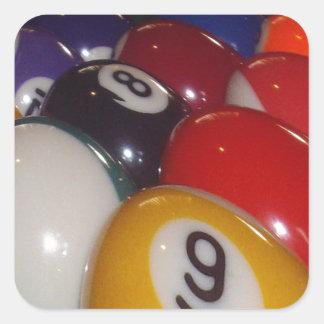 Colorful_Eight_Balls,_ Square Sticker