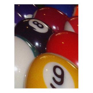 Colorful_Eight_Balls, _ Tarjeta Postal