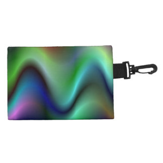 Colorful electric waves accessory bag