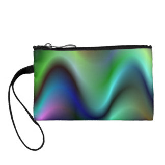 Colorful electric waves change purse
