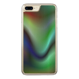 Colorful electric waves carved iPhone 8 plus/7 plus case
