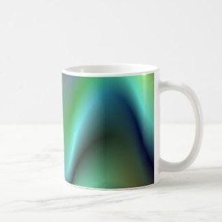 Colorful electric waves coffee mug
