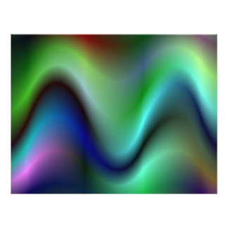 "Colorful electric waves 8.5"" x 11"" flyer"