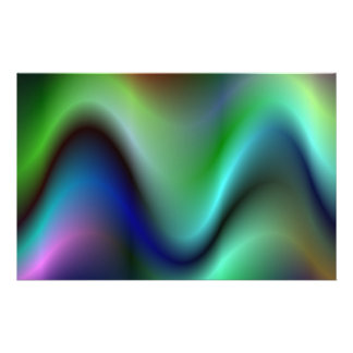 "Colorful electric waves 5.5"" x 8.5"" flyer"