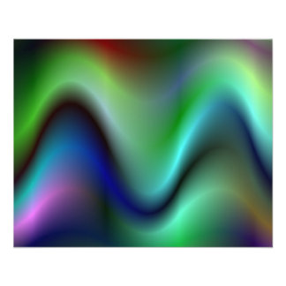 "Colorful electric waves 4.5"" x 5.6"" flyer"