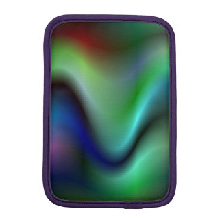 Colorful electric waves iPad mini sleeve