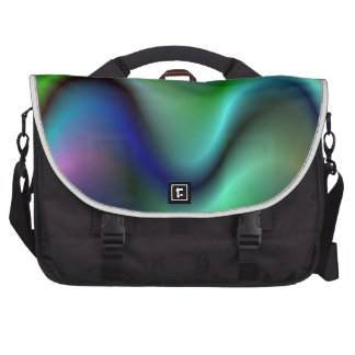 Colorful electric waves commuter bags