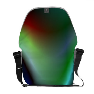 Colorful electric waves courier bag
