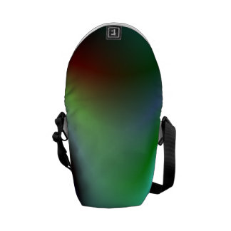 Colorful electric waves messenger bag