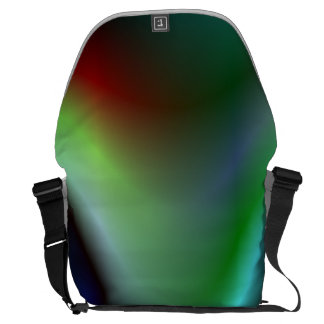 Colorful electric waves messenger bags