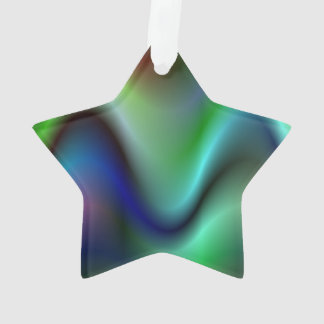Colorful electric waves ornament