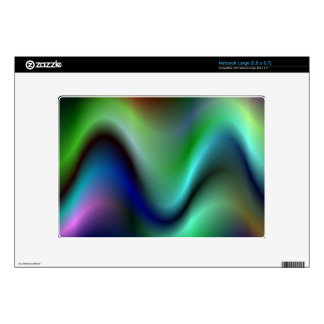 Colorful electric waves netbook decals